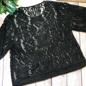 Worthington Lace Blouse Sz OX